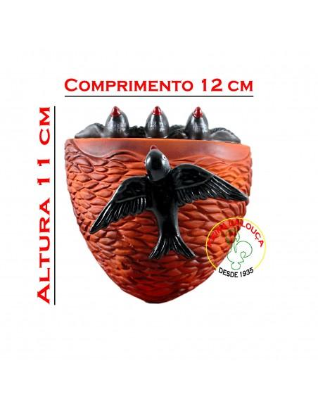 Ninho de Andorinhas Laranja em Cerâmica
