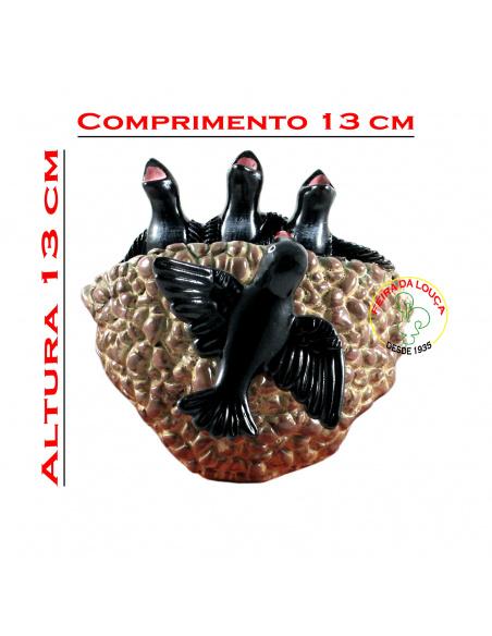 Ninho de Andorinhas Castanho em Cerâmica