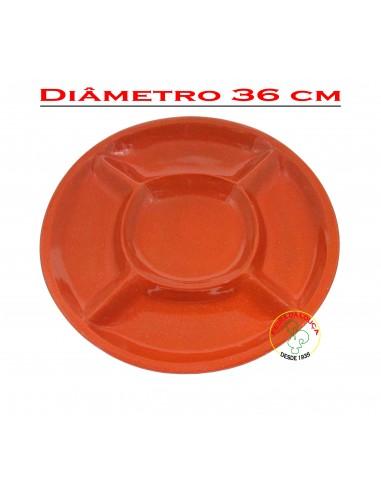 Prato de Barro Grande com Divisórias Vaisselle Terre Cuite