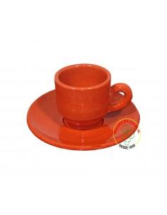 Chávena de Barro com Pires para Café