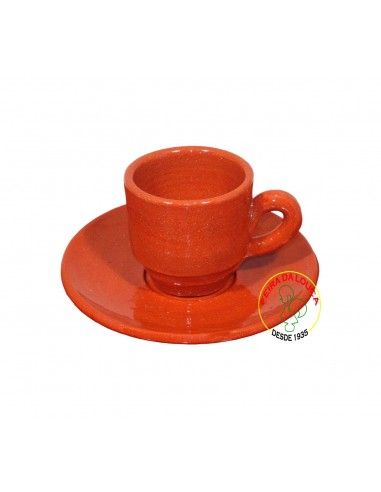 Chávena de Barro com Pires para Café Steingut
