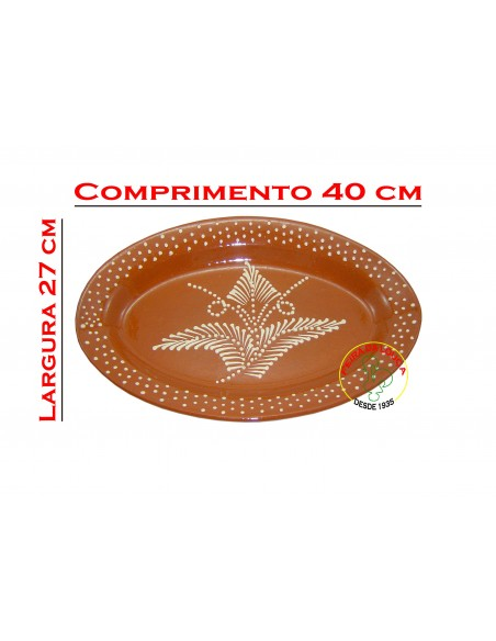 Travessa de Barro Decorada Oval Nº4