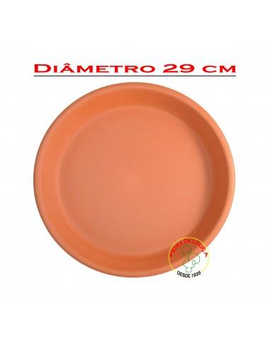 Prato de Barro para Vaso Nº30 Olaria Tradicional Portuguesa