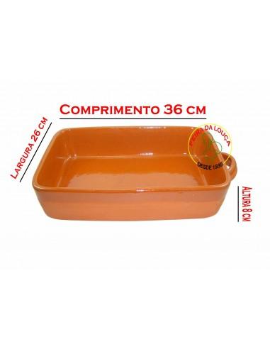 Assadeira de Barro Retangular Nº3 Vaisselle Terre Cuite