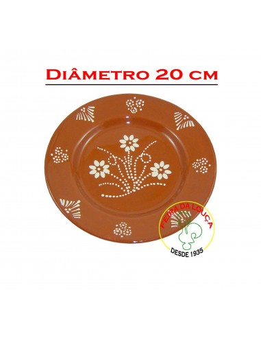 Prato de Barro Decorado Nº2 Earthenware Decorated