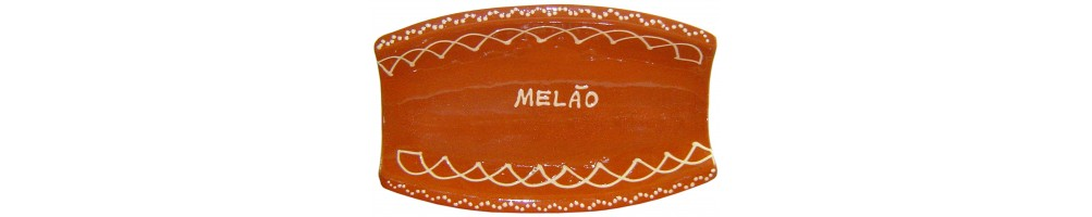 Travessas de Barro Decoradas para Melão