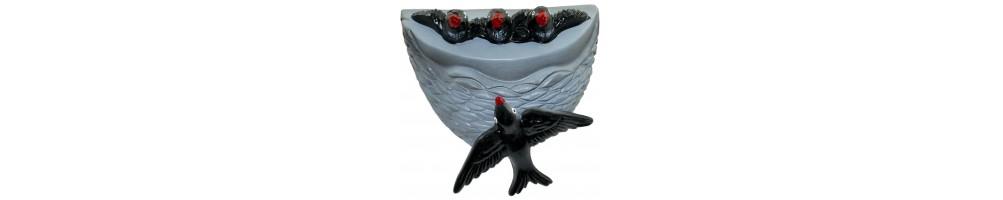 Ninhos de Andorinhas em Cerâmica