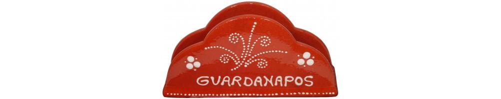 Suportes para Guardanapos em Barro Decorados
